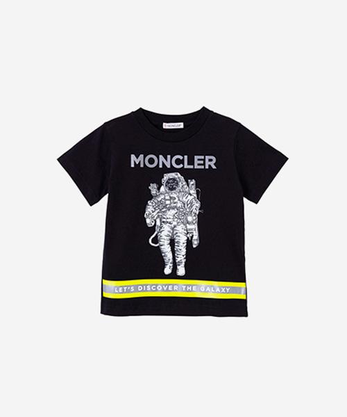 [추가5%할인][몽클레어] 블랙 애스트로넛 프린트 티셔츠